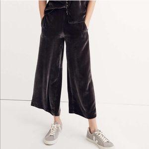 Madewell Velvet Pull on pants/xs